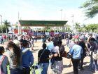 Trabalhadores fazem ato contra a reforma da Previdência em praça