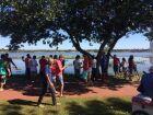 Turistas aproveitam a 'segundona' na Lagoa Maior