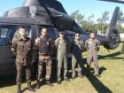 PMA e Exército utilizam helicóptero em fiscalização ambiental