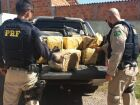 Caminhonete com 800kg de maconha é abandonada após colisão durante fuga