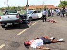 Equipes participam de simulado de acidente com vítimas e carga perigosa