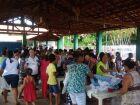 Com doação de roupas e calçados, ação reúne mais de mil pessoas