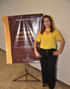 Aconteceu na última quinta-feira no auditório do Vila Romana Park Hotel  uma palestra informativa  sobre a reforma trabalhista.  A palestra  que foi ministrada pela advogada Andriela de Paula Queiroz Aguirre esclareceu dúvidas a respeito dessa nova lei que entra em vigor neste sábado .