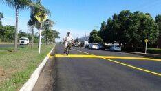 Ciclovia da avenida Capitão Olyntho  é sinalizada