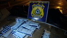 PRF apreende 350 mil cigarros contrabandeados e avaliados em R$ 1,7 milhão