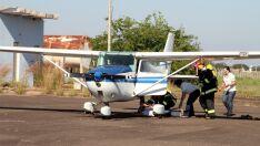 Aeroporto de Três Lagoas recebe simulação de acidente com avião