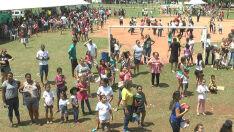 Milhares participam da 'Manhã da Criança' na Lagoa Maior