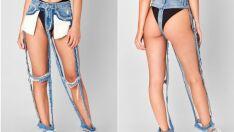 O preço desse jeans quase sem tecido (mas com bolsos) é absurdo