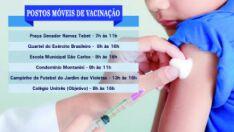 Campanha vacina 30% das crianças e 'Dia D' é hoje em 21 pontos da cidade