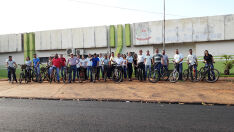 Servidores do Paço Municipal de Brasilândia aderem ao 'Dia Sem Carro'