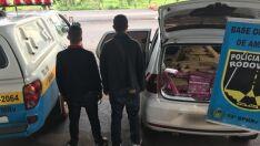 Polícia persegue assaltantes e apreende 660 quilos de maconha na fronteira