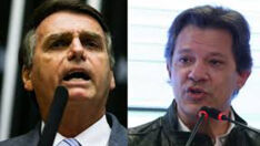 Bolsonaro tem 59% dos votos válidos; Haddad tem 41%