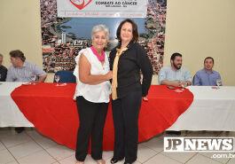 Ivanir Batista e a ex-presidente Lourdes Palhares