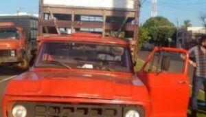 PM recupera caminhonete furtada e prende autor em Aparecida do Taboado