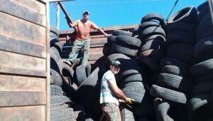 Prefeitura destina 20 toneladas de pneus inservíveis para reciclagem