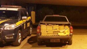 Três são presos transportando 600 kg de maconha em veículo