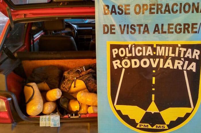Polícia apreende mais de 13 kg de skank em Bela Vista