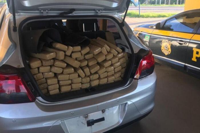 Veículo é recuperado com 378kg de maconha em Bataguassu