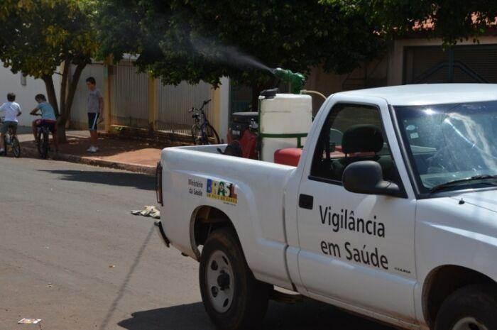 Secretaria intensifica bloqueio químico em bairros contra mosquito da dengue
