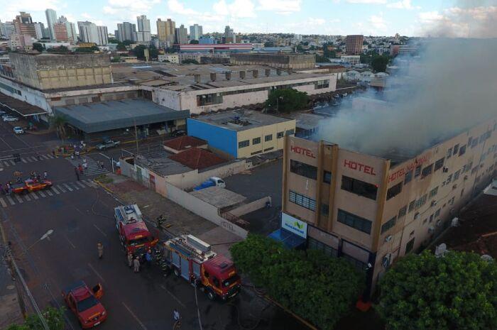 Hotel que pegou fogo na capital é interditado