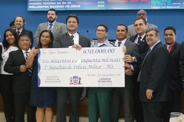 Vereadores repassam R$ 650 mil para PM investir na segurança pública