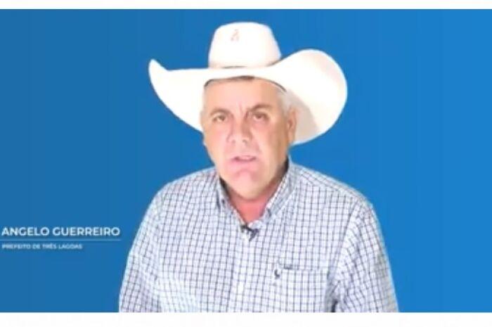 Prefeito de Três Lagoas grava vídeo em resposta a críticas em carta anônima