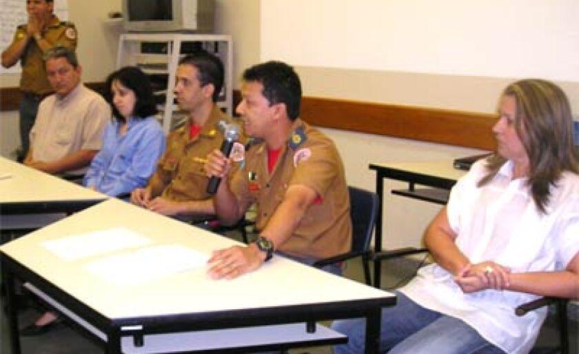 Participantes do curso de Sistema de Comando de incidentes (SCI).