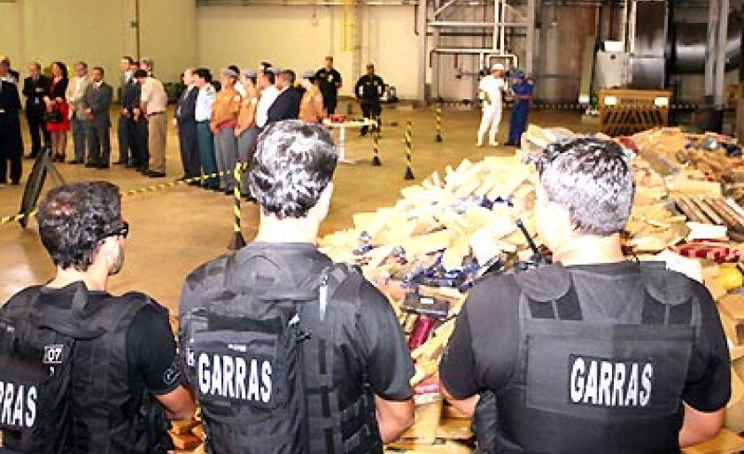 Drogas foram queimadas pela Secretaria de Justiça e Segurança Pública nos fornos do frigorífico Bert