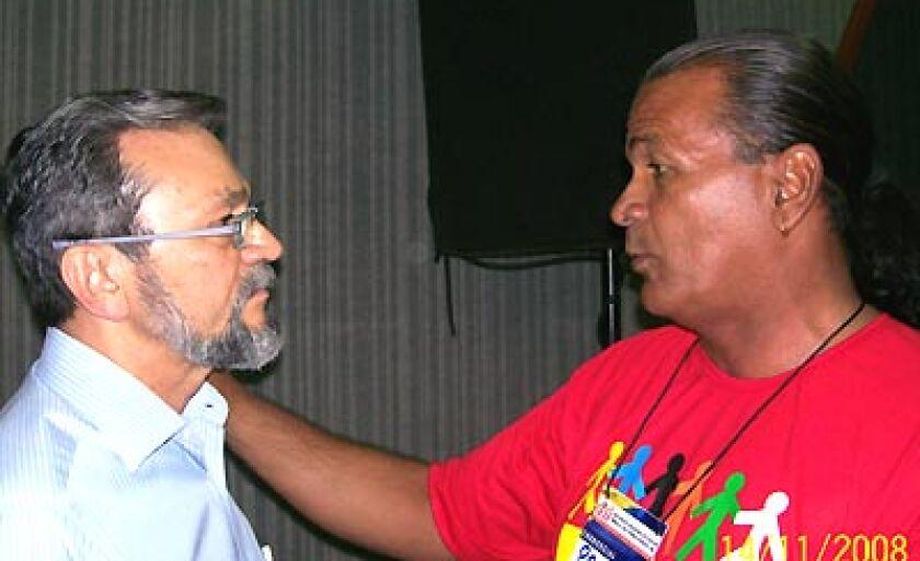 Senador Valter Pereira com o presidente do Sindif Paulo Benites