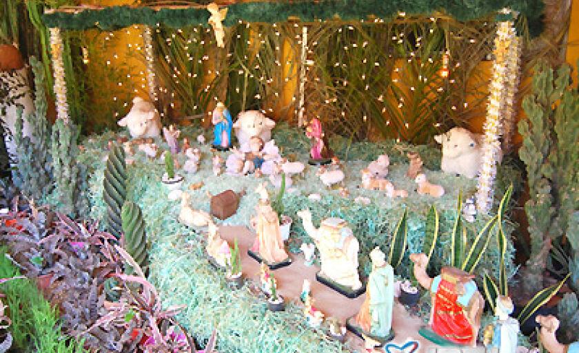 O presépio de Natal pode ser visitado na rua Benedito Soares da Mota, 712, Vila Viana