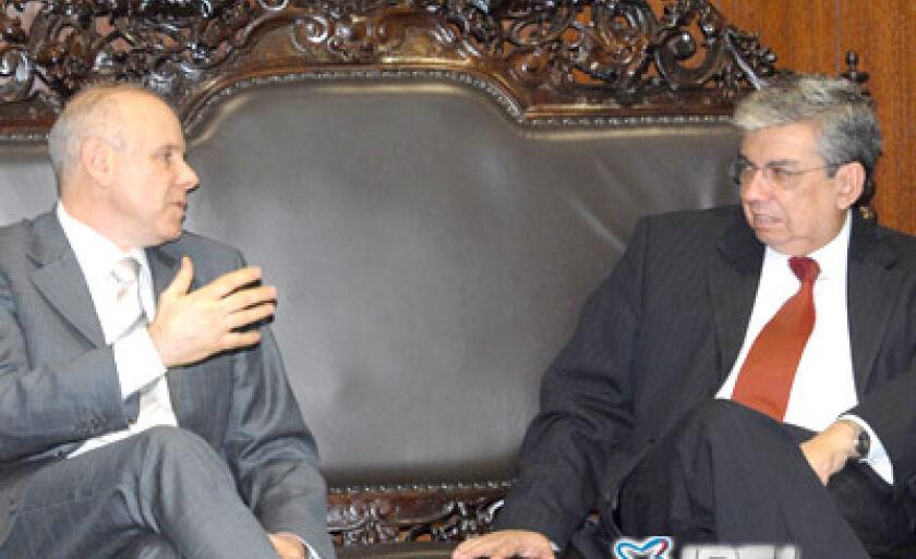 Ministro da Fazenda, Guido Mantega, reuniu-se com o presidente do Senado, Garibaldi Alves Filho