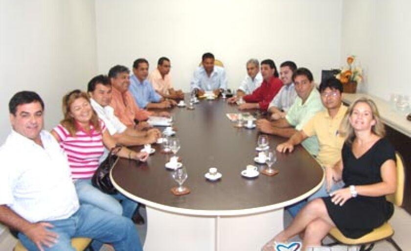 Reunião foi a portas fechadas no gabinete da Presidência da Câmara de Vereadores