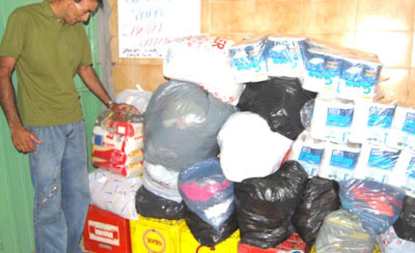 Donativos arrecadados pelo Ovisa, que serão enviados aos flagelados caterinenses
