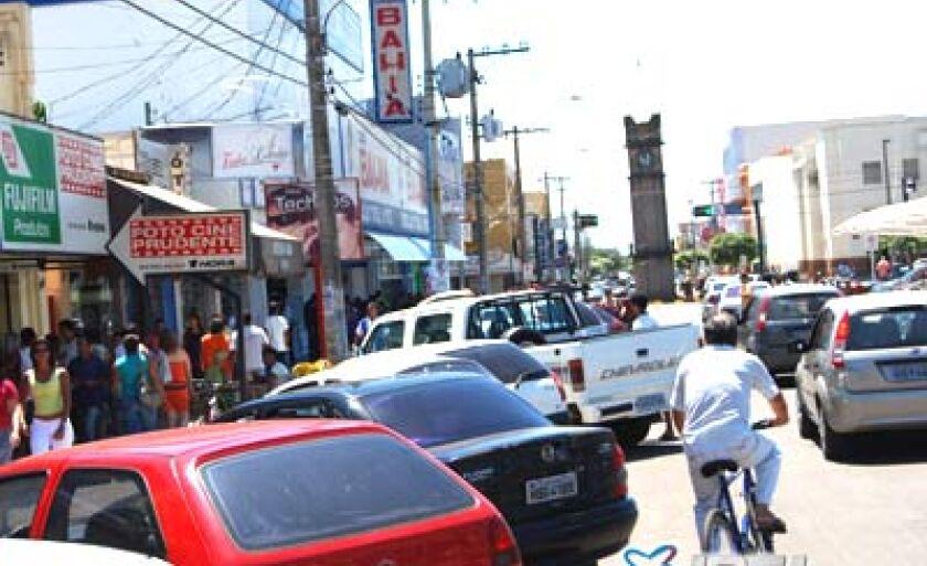 O crescimento de Três Lagoas é notório, também, pelo grande movimento nas ruas, reflexo do desenvolvimento econômico