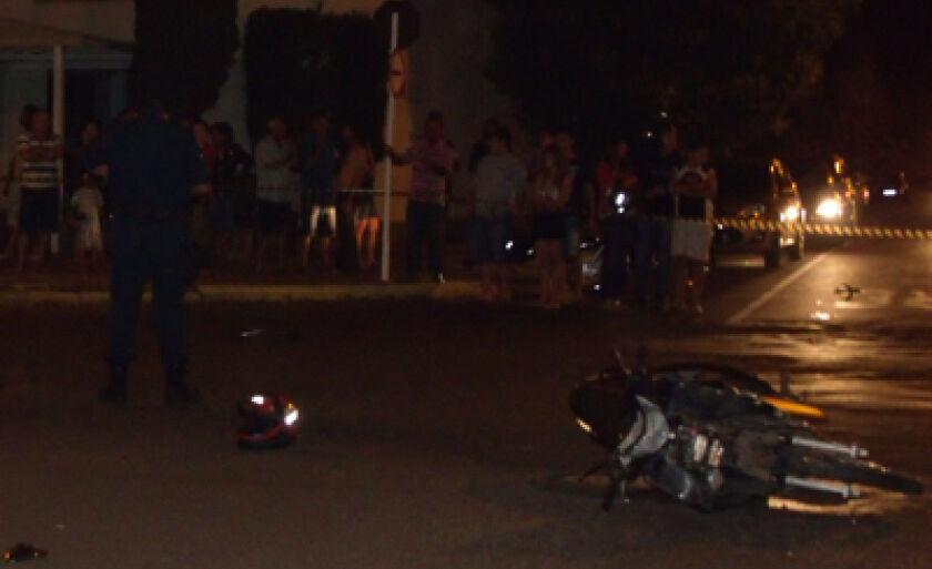 Acidente entre caminhonete e moto resultou em morte