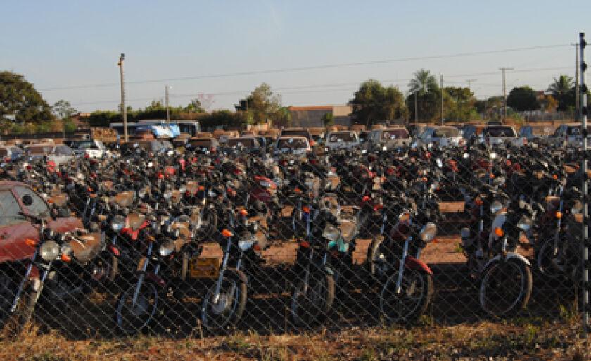 Motocicletas é a maior pré-selecionadas para leilão
