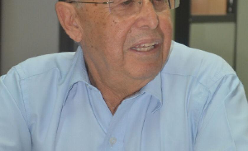 João Juveniz, na redação do Jornal do Povo