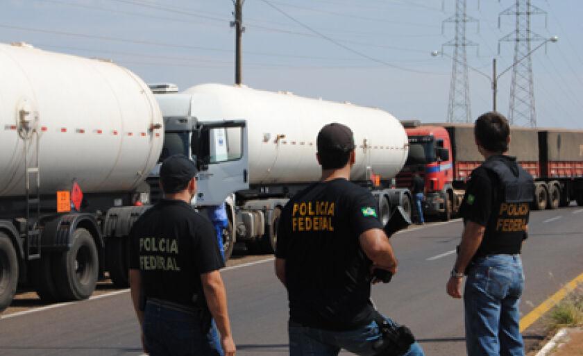 Maioria dos veículos abordados era caminhão