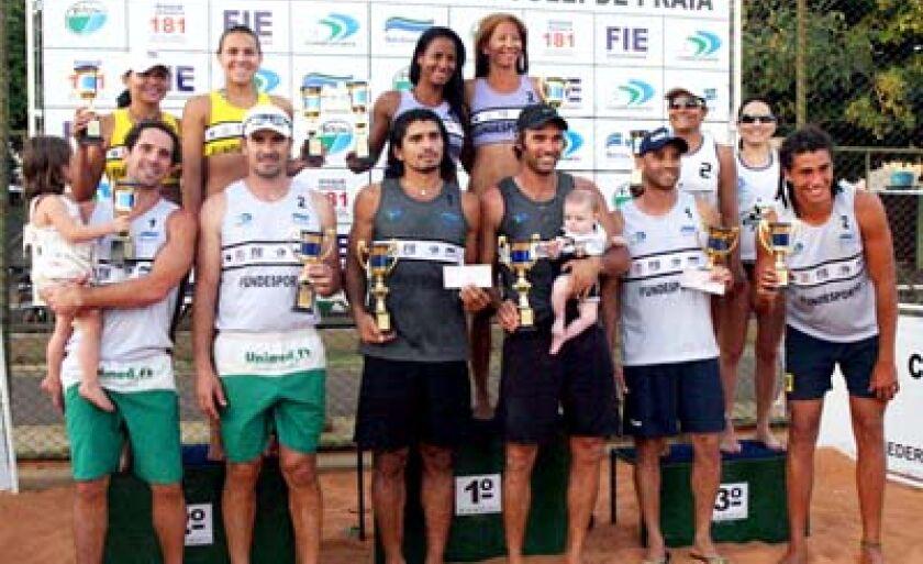 Pódio da etapa foi ocupado por duplas de Cuiabá, São Gabriel e Bela Vista