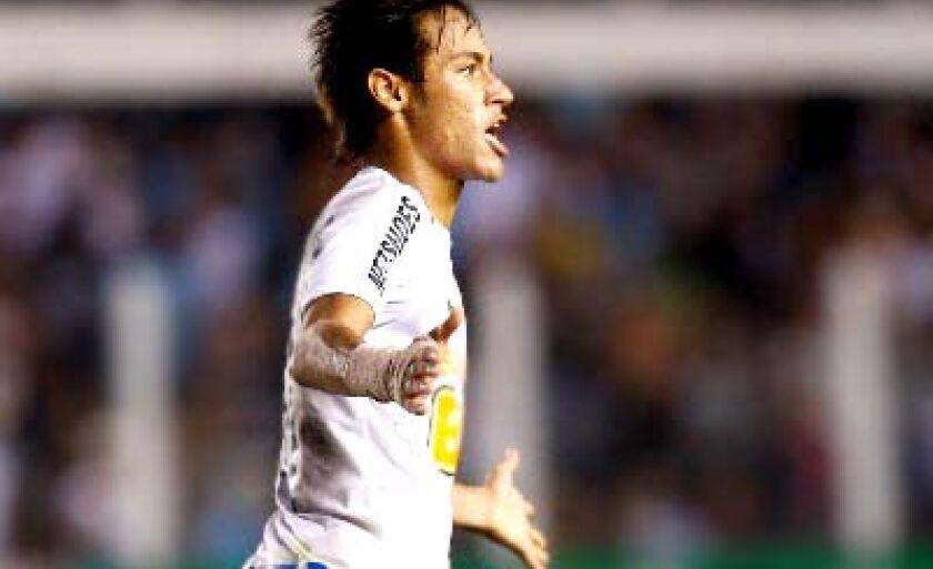 Neymar marcou o segundo gol do Peixe contra o Flamengo