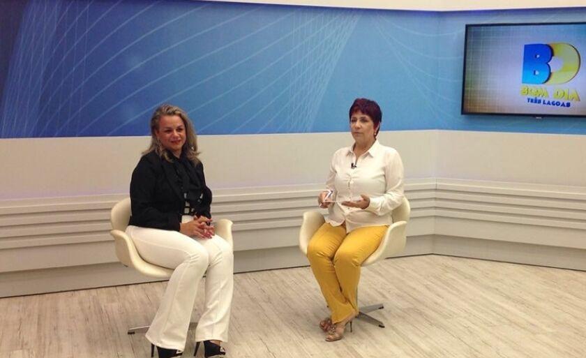 Meiry Gomes Medeiros, coordenadora do Programa Vale Renda, em entrevista ao Bom Dia Três Lagoas