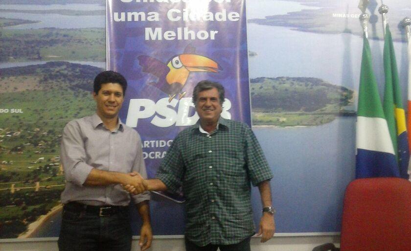 Gustavo Carvalho e Robinho, após o acordo que selou as candidaturas