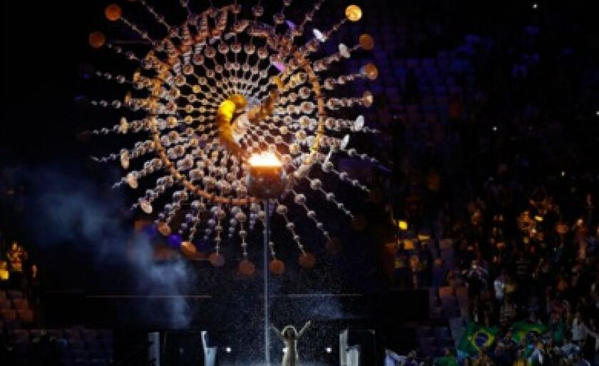 Símbolo usado pela Rio 2016 para exposição da tocha olímpica