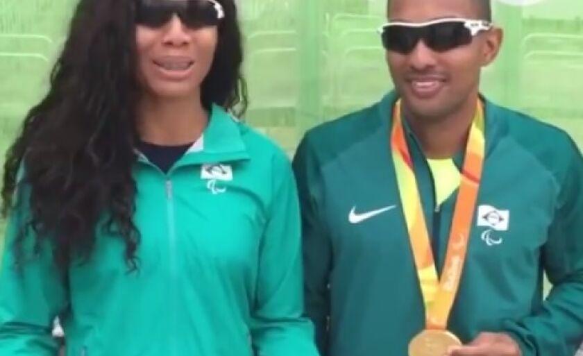 Silvânia gravou vídeo para falar da medalha e da competição