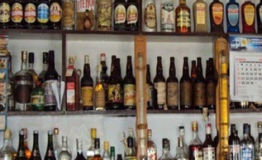 Bebidas foram levadas de bar