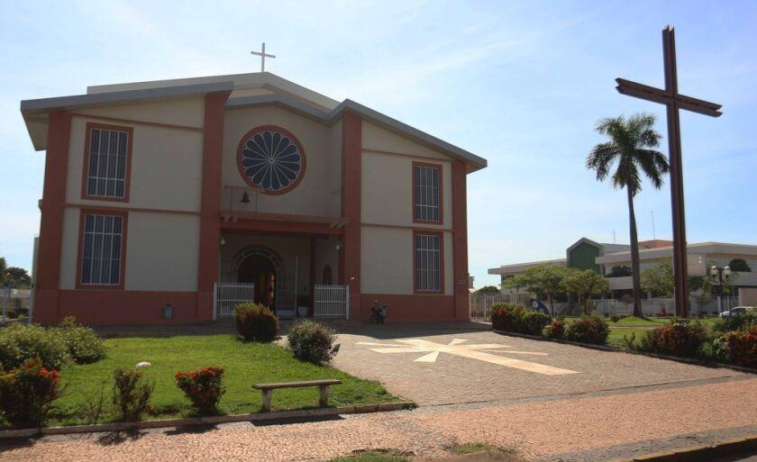 Igreja Sagrado Coração de Jesus, mais conhecida como Igreja Matriz, erguida na primeira metade do século XX.