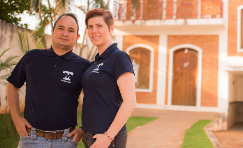 Empresários Thiago Marques e Maíra Gimenez