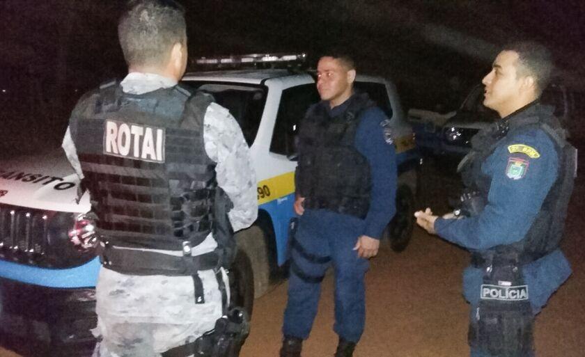 Policiais Militares estão realizando buscas nana região