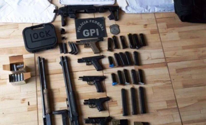 Armas foram apreendidas durante operação da Polícia Federal