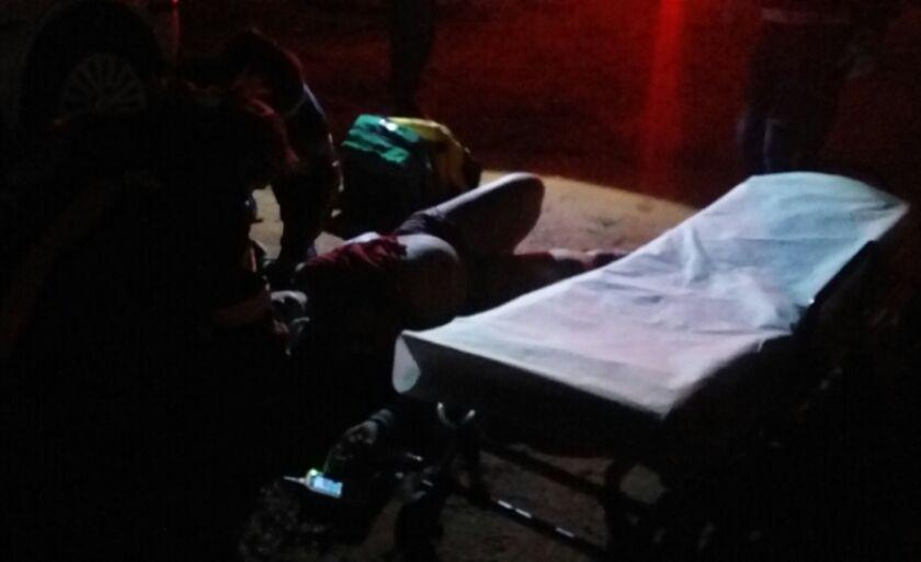 A vítima foi socorrida pelo SAMU e Rádio Patrulha